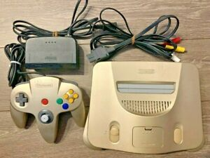 Nintendo 64 Gold Model Limited Video game Console Japanese ver. N64 Used Tested