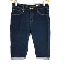 45477bca7 H&M Womens Jean Shorts 27 in Denim Dark Wash Slim Skinny Walking Bermuda  Cut Off
