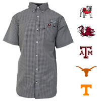 Columbia Men's NCAA BPlaid PFG CLG Super Harborside S/S Woven Shirt (Retail $80)
