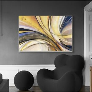 Modern Abstract Art  with black wooden frame. Special Offer NEW