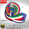 Adesivo Stickers FRECCE TRICOLORI 50 ANNIVERSARY FLAG ITALY Aereonautica Space