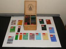THE ADVANCE GLASS COMPANY NEWARK OHIO SALEMAN SAMPLER 100 GLASS PIECES IN BOX