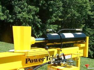PowerTek 40-Ton Honda 9 hp GX270 Tilt Gas Wood Log Splitter USA Made Taillights