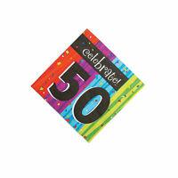 Milestone Celebration 50Th Birthday Luncheon Napkins