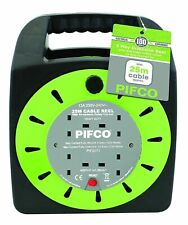Pifco 4 Way UK 3Pin Plug 13amp with 25m  Winding Cable - Black