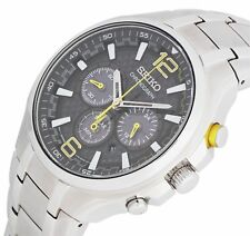 Seiko ssc449p9 Men's Solar Stainless Steel Chronograph Watch- Silver.
