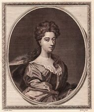 1786 Engraved Portrait- Her Grace The Duchess of Manchester- Sir Godfrey Kneller