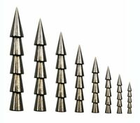 15PCS Tungsten Sinkers Pagoda Wacky Nail Sinkers Pencil Worm Insert Weights