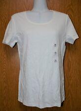 Womens White Karen Scott Short Sleeve Cotton Tee Shirt Size PS NWT NEW