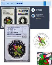 2007 Birds Of Fiji .999 Silver Collared Lory NGC PF69 Census pop:3 highest grade