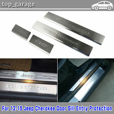 Chrome SS Door Step Sill Plates for Jeep Grand Cherokee 11 2012 2013 2014 2015