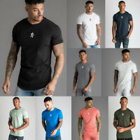 Gym King Mens Origin T-Shirt Colours Designer Crew Neck High Build Logo Tee Top