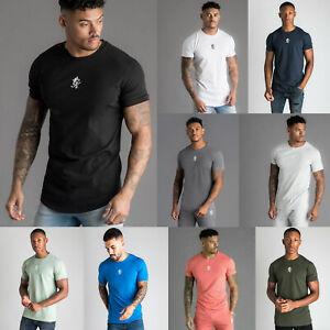 Gym King Mens Origin T-Shirt Colours Designer Crew Neck High Build Logo Tee Top