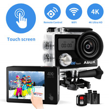 ABOX Action Camera 4K 16MP, 608TA Touch Screen Sports Camera 30 Meters Camcorder