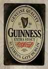 Guinness Beer Vintage Antique Collectible Tin Metal Sign Wall Decor