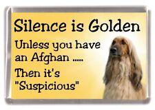 "Afghan Hound Dog Fridge Magnet ""Silence is Golden ........."" by Starprint"