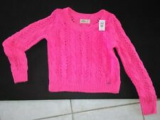 New Hollister Abercrombie Cable Knit Sweater Belmont Shore Womens Size Small