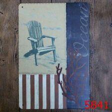 Metal Tin Sign ocean  Bar Pub Vintage Retro Poster Cafe ART
