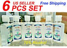 Hand Sanitizer With Aloe Vera Gel ,60 ml (2.02 Oz),6 Pieces Set, 70% Alcohol