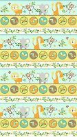 Jungle Friends~Animal Stripe~Turquoise Cotton Fabric by Northcott