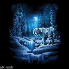 Snow Tiger HEAT PRESS TRANSFER for T Shirt Tote Bag Sweatshirt Quilt Fabric 292e