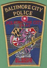 BALTIMORE MARYLAND POLICE CSI CRIME SCENE INVESTIGATION PATCH