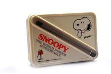 Vintage Snoopy Bento Lunch Box w/ Chopsticks The World Famous Superbeagle Japan