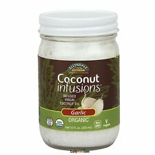NOW Food Organic Coconut Infusions 12 oz Garlic, Free Shipping, Made in USA