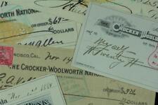 (TWO) Vintage Banks Deposit Slips & Checks