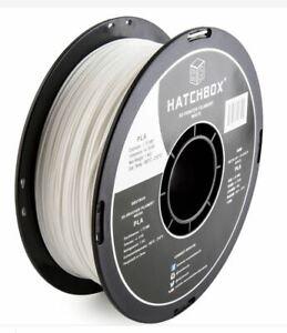 HATCHBOX White Filament 3D Printer PLA-1KG1.75-WHT 1.75mm 1Kg Spool