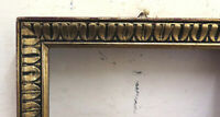 8 5/16x11 13/16in Frame For Paintings Vintage Wooden Carved & Golden BM42
