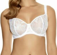 Fantasie Allegra Bra White Lace Size 32FF Underwired Side Support Balcony 9091