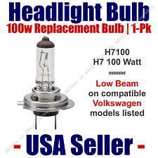 Headlight Bulb Low Beam 100 Watt Upgrade 1pk Fits Select VW Volkswagen - H7 100