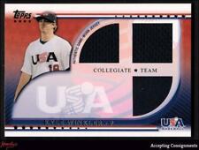 2010 USA Baseball Triple Jerseys #KW Kyle Winkler JERSEY ROOKIE DIAMOND BACKS
