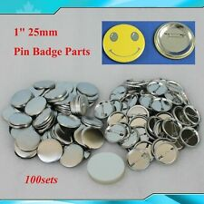 "Diy 100Sets 1"" metal Pin Badge Button Parts Supplies for Pro Maker 25mm"