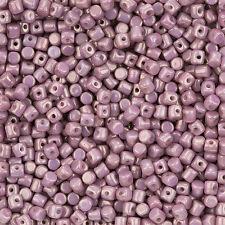 Minos ® par puca ® czech glass bead opaque violet mix gold ceramic look 9g (L99/4)