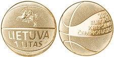 Lituania 1 litas Enchapado en Oro 24K 2011 campeonato de baloncesto UNC