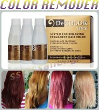 DECOLOR TIME HAIR COLOR REMOVER REMOVE COLOR FROM DYED HAIR NO AMMONIA NO DAMAGE