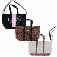 Victoria's Secret Weekender Travel Bag Large Tote Handles Shopper New Victorias