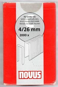 NOVUS-Typ C 4 / 26 mm,Schmalrückenklammer - 042-0742 .2000 Stück-  Klammern-