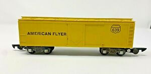 AMERICAN FLYER VINTAGE S SCALE YELLOW REEFER BOXCAR 639