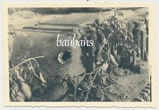 Foto Frankreich-Feldzug französischer  Panzer/ Tank abgeschossen  (8328)