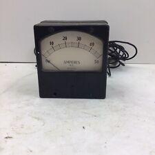 Vintage Weston 741 Series Dc Amp Meter 0 50 Rating