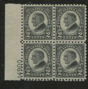 1923 US Stamp #612 2c Mint VF LH Perf 11 Plate Block of 4 Catalogue Value $300