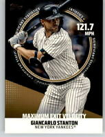 2019 Topps Series 2 Significant Statistics #1 Gold /50 GIANCARLO STANTON Yankees