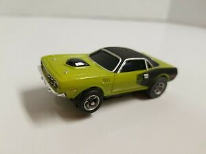 Aurora afx Dodge Hemi Cuda slot car mean green armature