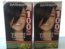 2 X Garnier Nutrisse Vibrant Colors Gel-Creme Color 100% 300 Soft Black