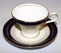 Aynsley Fine Bone China, 7249, LYNTON COBALT BLUE, Cup & Saucer Set