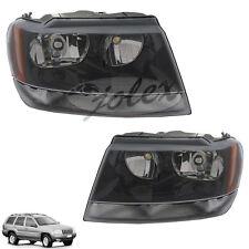Scheinwerfer schwarz rechts+links SET Jeep Grand Cherokee Laredo WJ WG 99-05