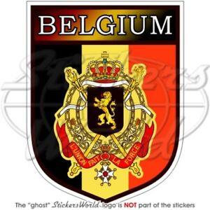 BELGIEN Belgische Schild Belgique 100mm Auto Aufkleber Sticker Vinyl